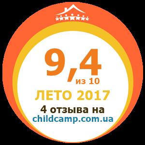 Оценка лагеря за Лето 2017 по отзывам родителей на childcamp.com.ua - портал детских лагерей